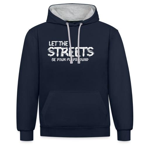 LET THE STREETS - Kontrastluvtröja