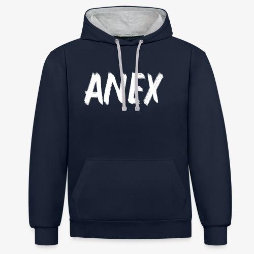 V-neck T-Shirt Anex white logo - Contrast Colour Hoodie