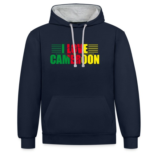 love cameroun - Sweat-shirt contraste