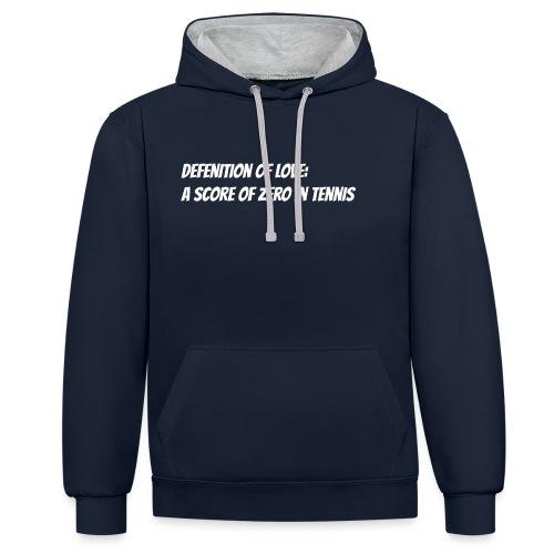 Tennis Love sweater woman - Contrast hoodie