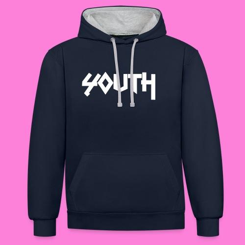 youth - Bluza z kapturem z kontrastowymi elementami