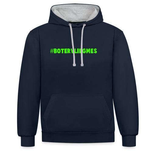Botervliegmes hoodie (mannen) - Contrast hoodie
