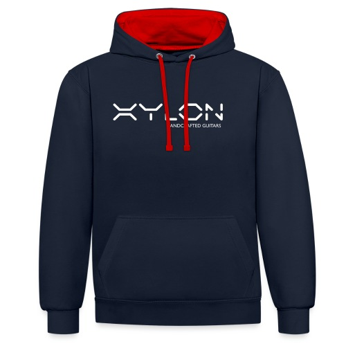 Xylon Handcrafted Guitars (name only logo white) - Contrast Colour Hoodie