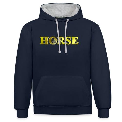 Horsegirl Reiten Pferde Geschenk - Kontrast-Hoodie