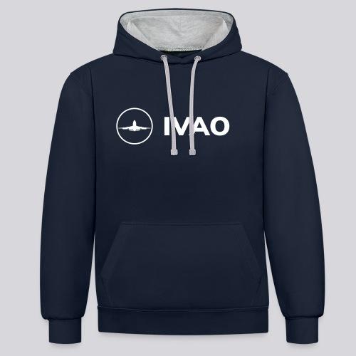 IVAO (Logo Complet Blanc) - Sweat-shirt contraste