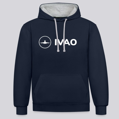 IVAO (White Full Logo) - Contrast Colour Hoodie