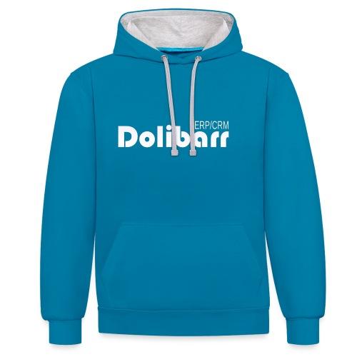 Dolibarr logo white - Contrast Colour Hoodie