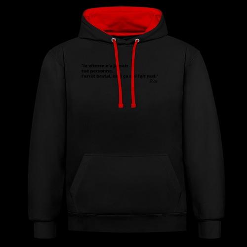 vitesse (noir) - Sweat-shirt contraste