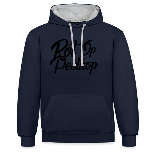 Rot Op Pestkop - Curly Black - Contrast hoodie