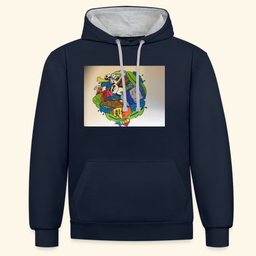 hoodie's and shirts - Contrast hoodie