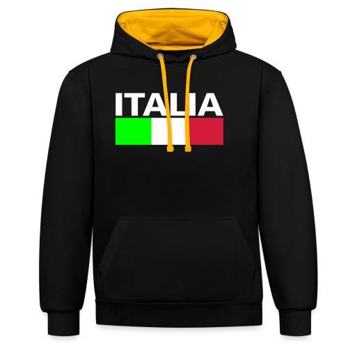 Italia Italy flag - Contrast Colour Hoodie
