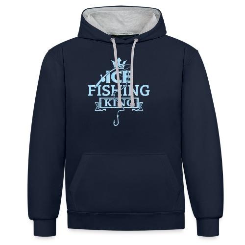 Ice Fishing Winter Fun - Contrast Colour Hoodie