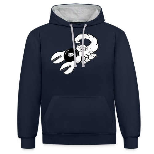 Space Scorpions?! (Black and White) - Contrast Colour Hoodie