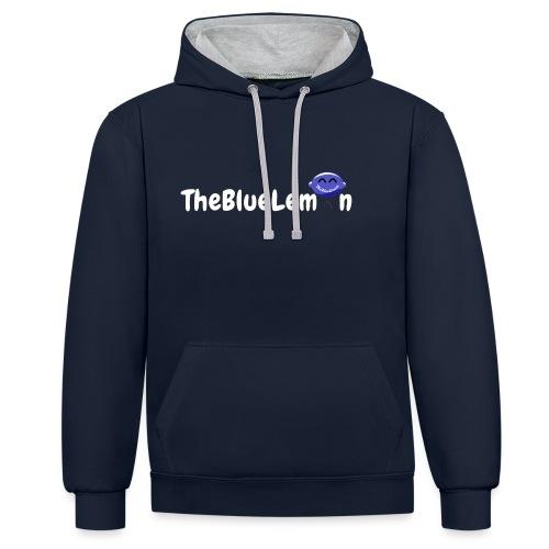 TheBlueLemon writing - Felpa con cappuccio bicromatica