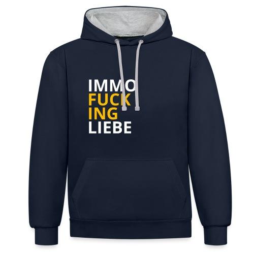 Immo f**cking Liebe! 💛 - Kontrast-Hoodie