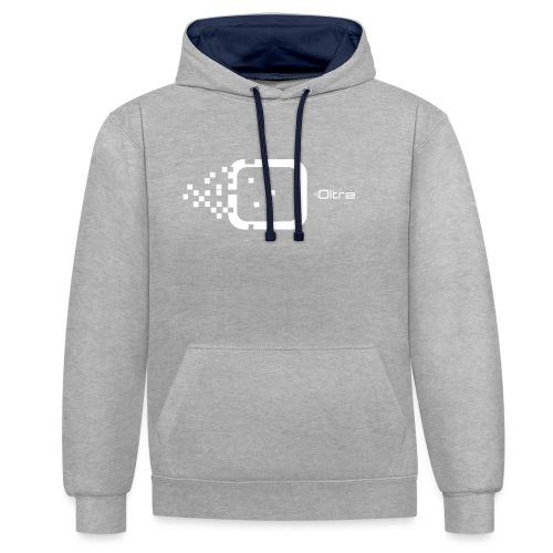 Logo Associazione Oltre - Felpa con cappuccio bicromatica