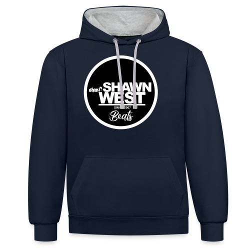 SHAWN WEST BUTTON - Kontrast-Hoodie