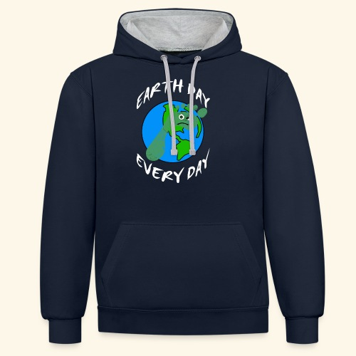 Earth Day Every Day - Kontrast-Hoodie