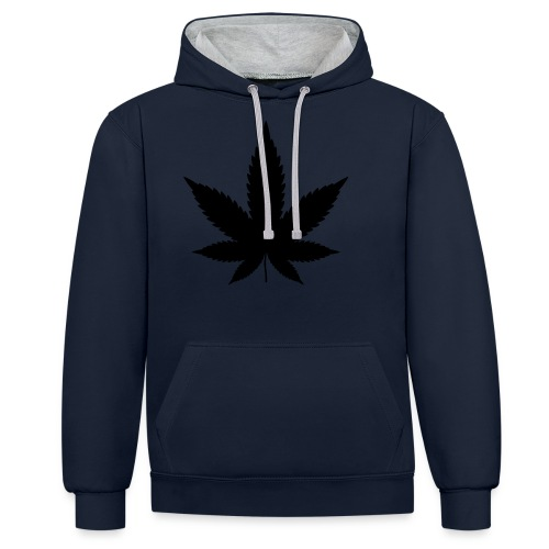 CannabisBlack - Kontrast-Hoodie