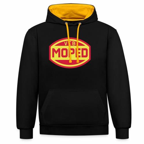 Moped VEB Logo (2c) - Contrast Colour Hoodie