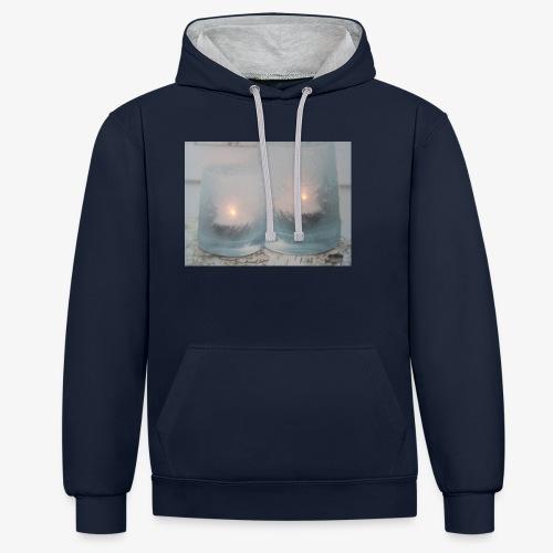 Selectie kaarslicht - Contrast hoodie