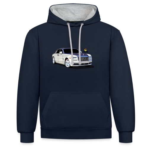 Luxury car - Contrast Colour Hoodie