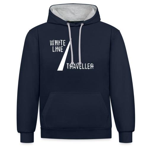 white line traveller - Contrast hoodie