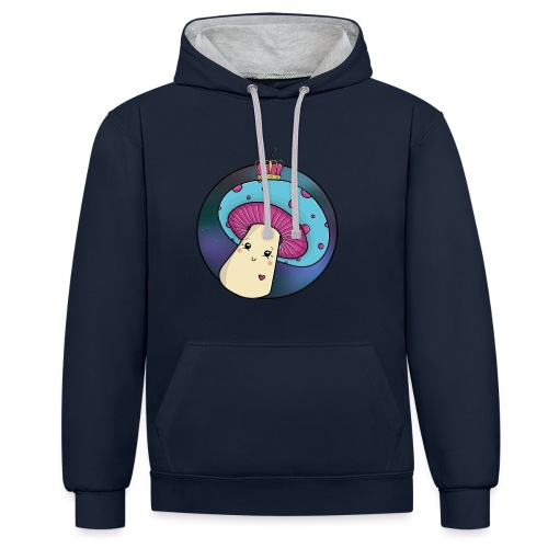The Mushroom Queen - Contrast Colour Hoodie