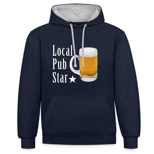 Lokalna gwiazda pubu - Bluza z kapturem z kontrastowymi elementami