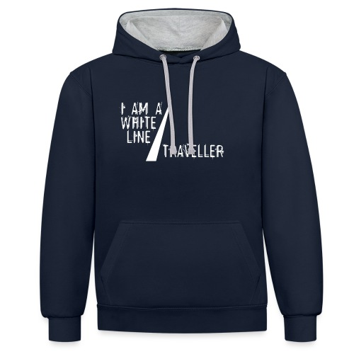 i am a white line traveller - Contrast hoodie