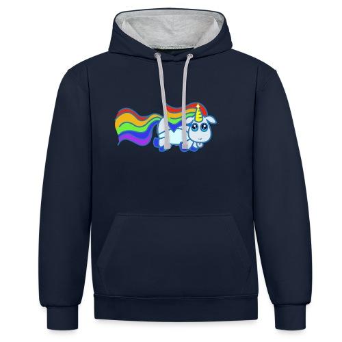 Nyan unicorn - Felpa con cappuccio bicromatica