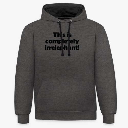Irrelephant - Kontrast-Hoodie