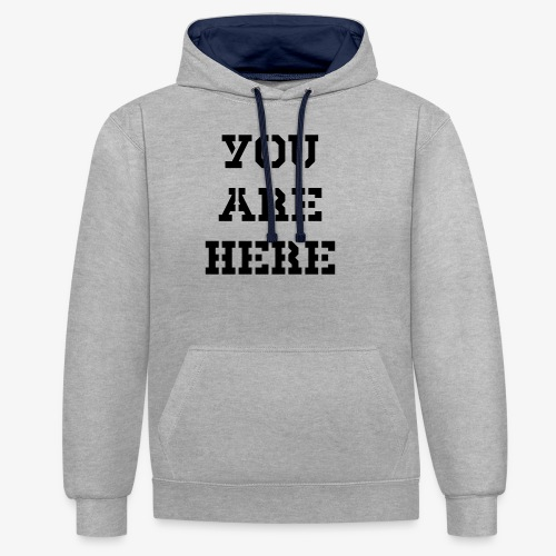 You are here - Kontrast-Hoodie