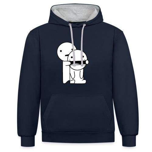Lachen! - Contrast hoodie