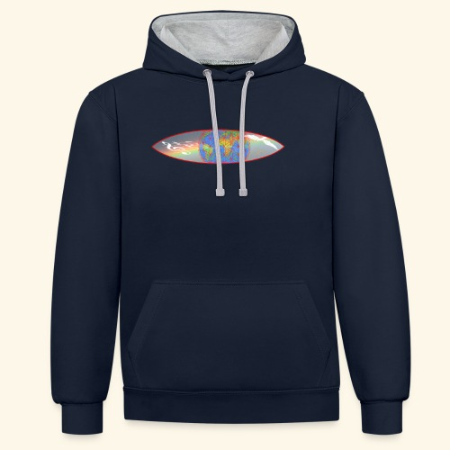 Heal the World - Kontrast-Hoodie