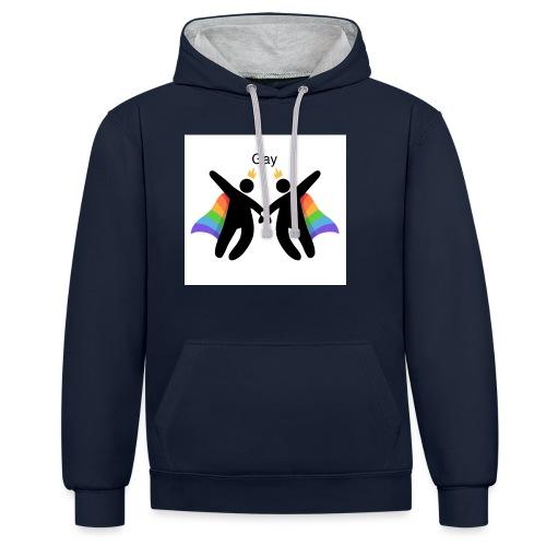 LGBT Gay - Kontrast-hættetrøje