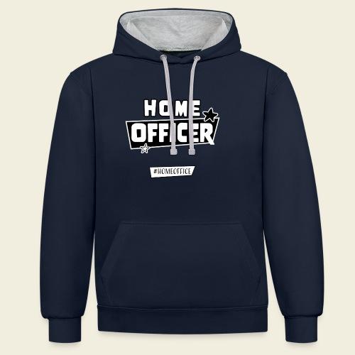 Home Officer - Kontrast-Hoodie