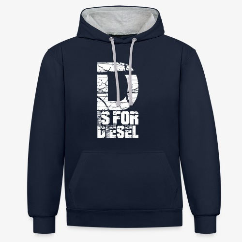 D is for Diesel I Dieselholics - Kontrast-Hoodie