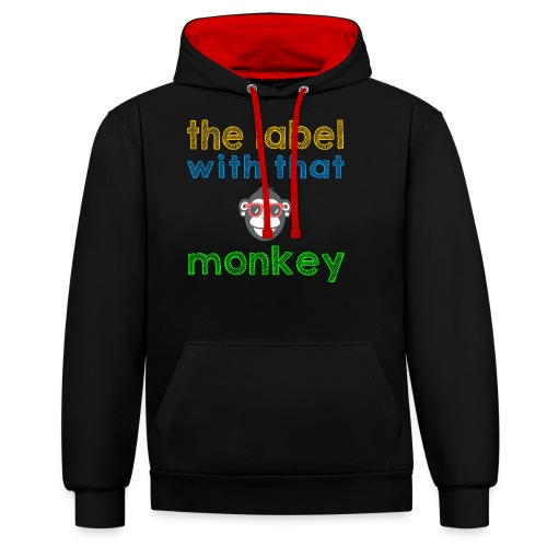 the label with that monkey - Kontrast-Hoodie
