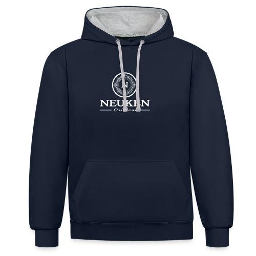 neuken white - Contrast hoodie