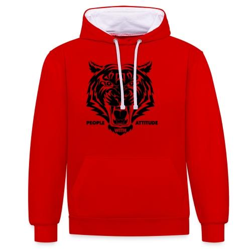 tijger-zwart - Contrast hoodie
