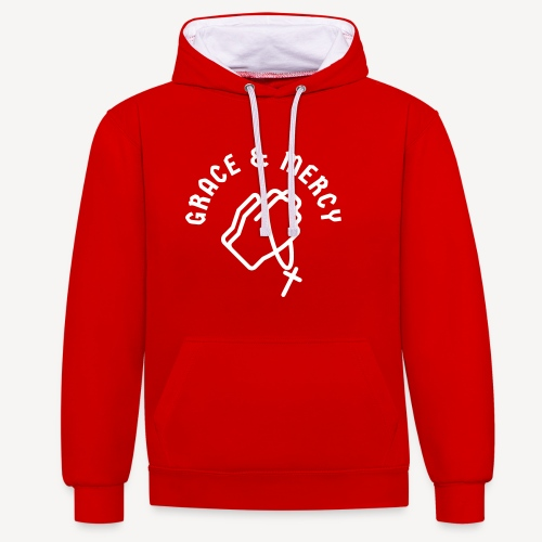 GRACE AND MERCY - Contrast Colour Hoodie