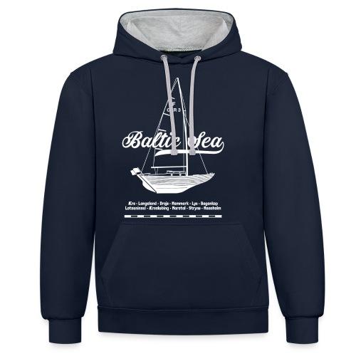 Baltic Sea Folkeboot - Kontrast-Hoodie