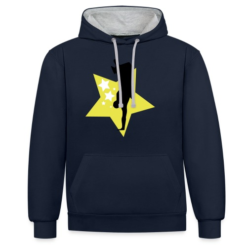 stars - Contrast Colour Hoodie