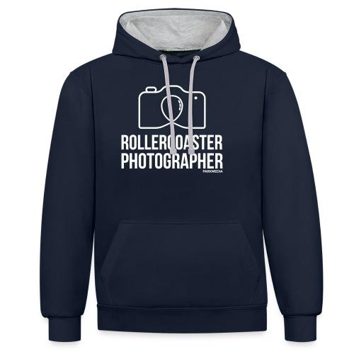 Photographe de montagnes russes - Sweat-shirt contraste