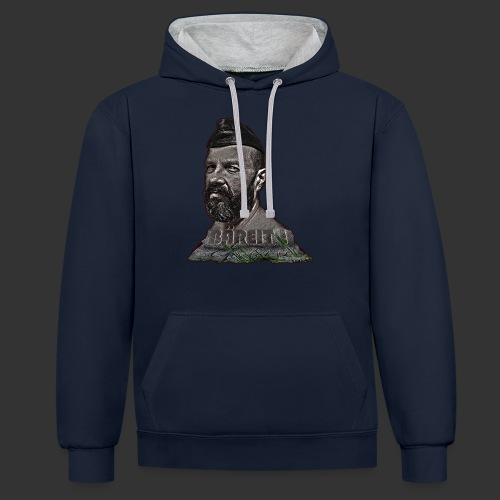 Bear made of stone - Kontrast-Hoodie