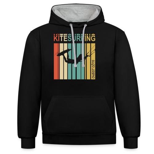 Kitesurfing Ouest Côte - Sweat-shirt contraste