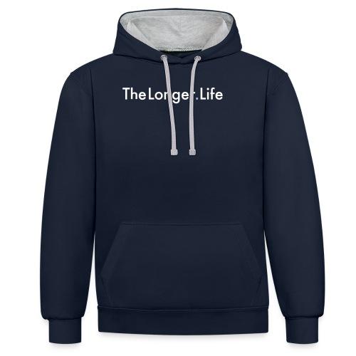 The Longer Life - Men's T=Shirt - Contrast Colour Hoodie