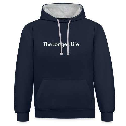 The Longer Life - Men's T=Shirt - Contrast Colour Hoodie