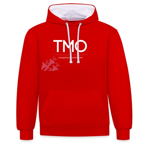 TMO official logo white - Contrast Colour Hoodie